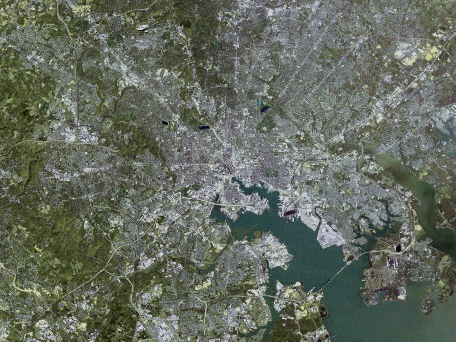 Impervious Surface Cover: Close Up of Baltimore