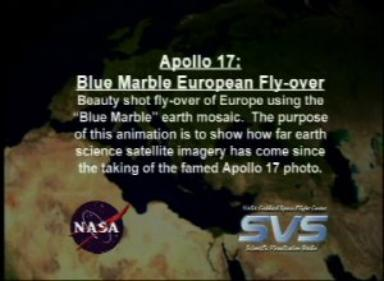 Apollo 17 30th Anniversary: Blue Marble European Fly-over