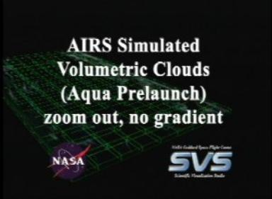 AIRS Volumetric Temperature Data with Gradient Background (Fly In)