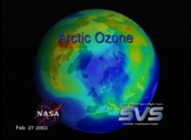 Arctic Ozone from February 1, 2003 through March 30, 2003