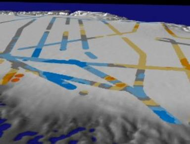 Greenland: Multiple Flight Paths Showing Ice Change