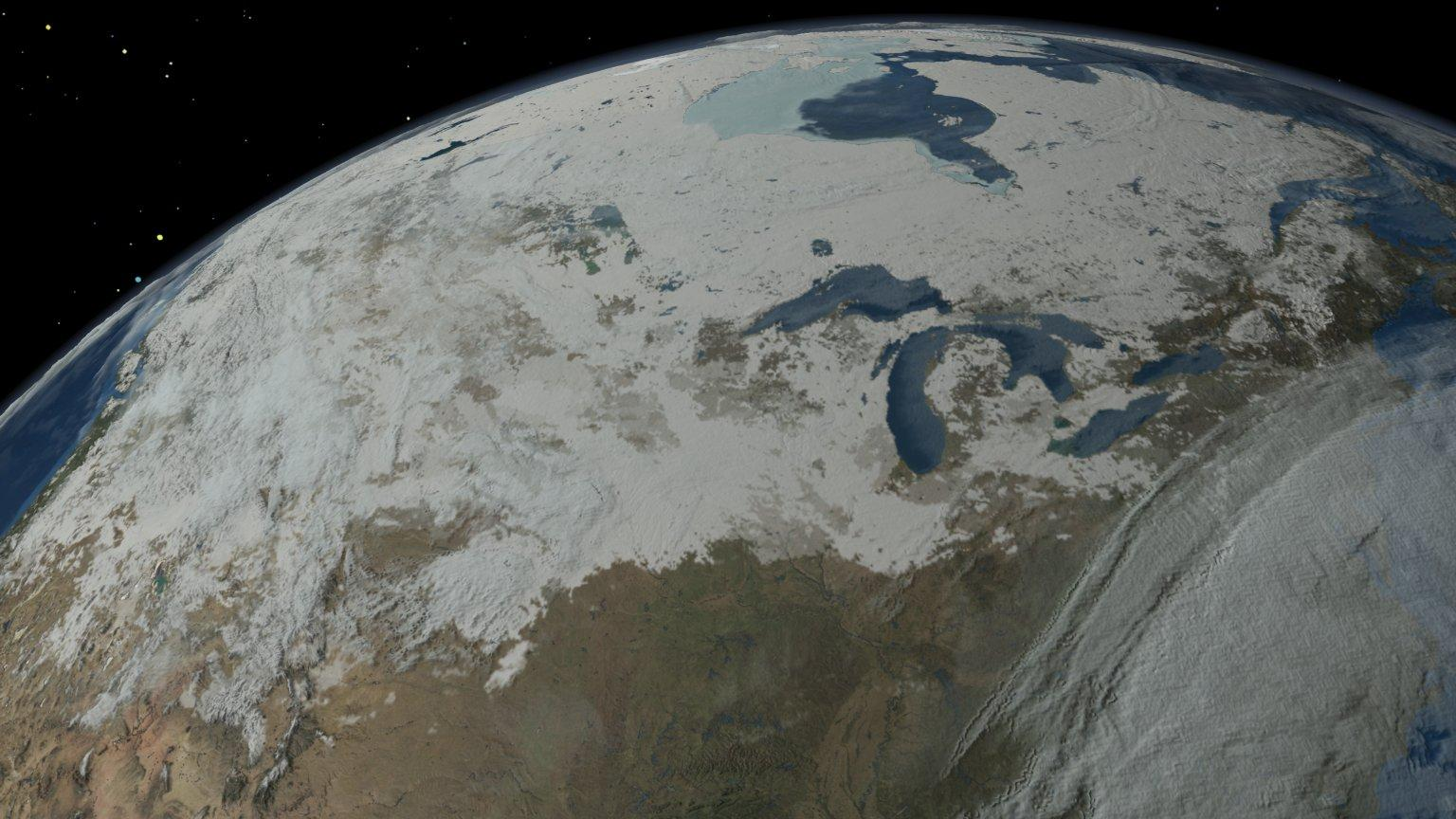 Sequence of Clouds, Snow Cover, Sea Ice, Sea Surface Temperature and Biosphere