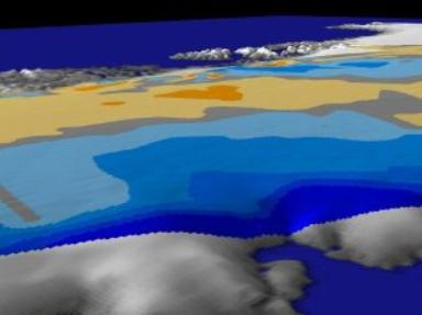 Greenland: East Coast Zoom-out with Ice Data