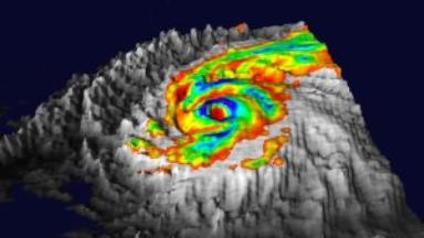 Super-Typhoon Pongsona Visualized from AIRS Instrument Suite Data
