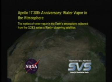 Apollo 17 30th Anniversary: Water Vapor in the Atmosphere