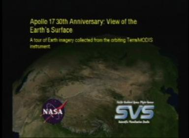 Apollo 17 30th Anniversary: View of the Earth's Surface