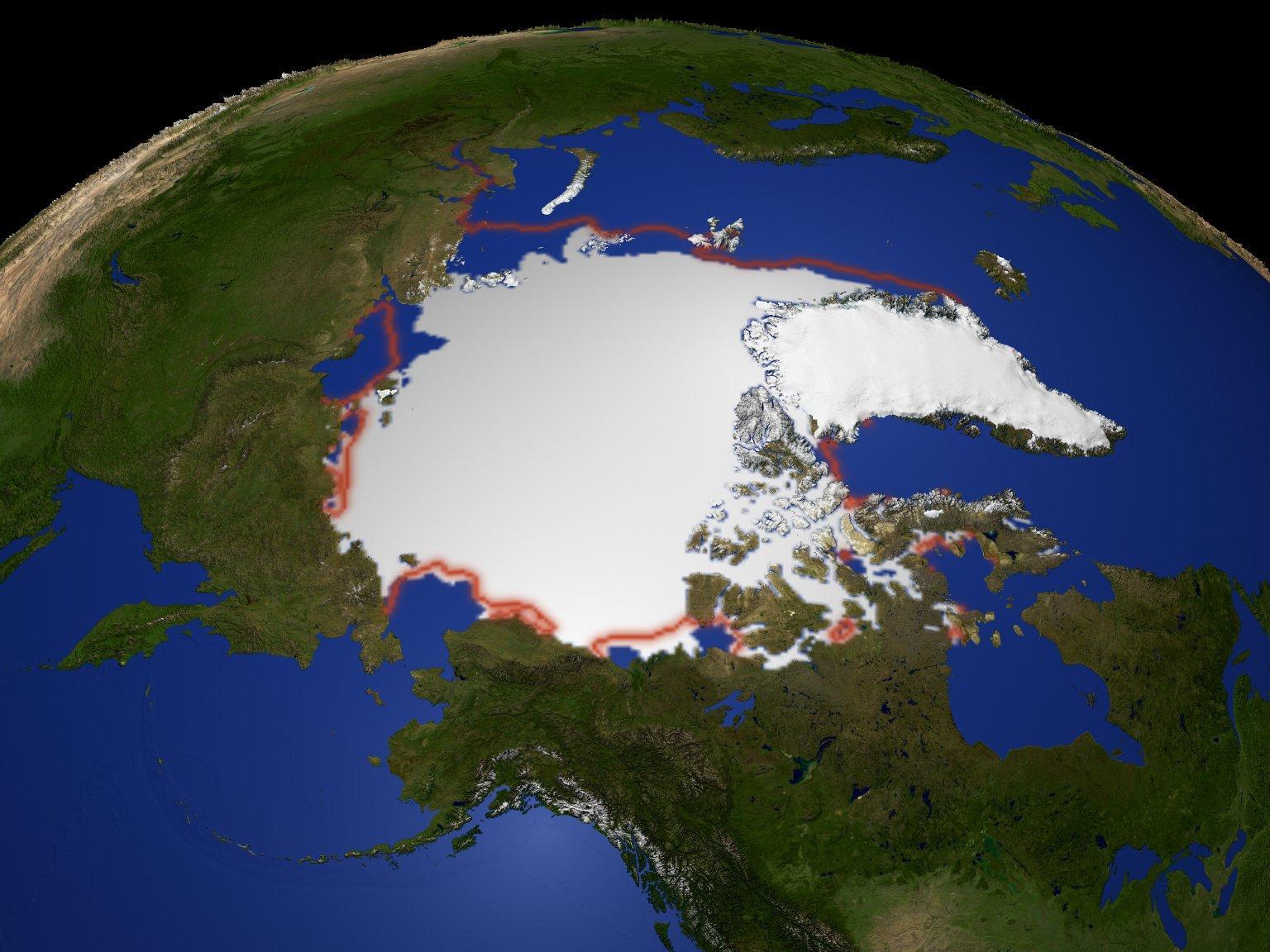 Arctic Yearly Minimum Sea Ice Extent 1979-2003