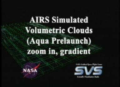 AIRS Volumetric Cloud Data with Gradient Background (Fly In)