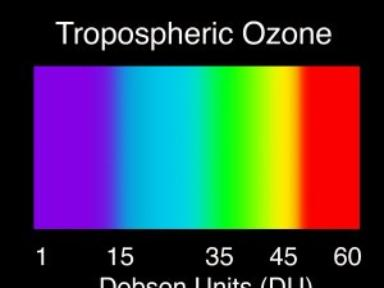 AURA/OMI Tropospheric Ozone over South America and Africa
