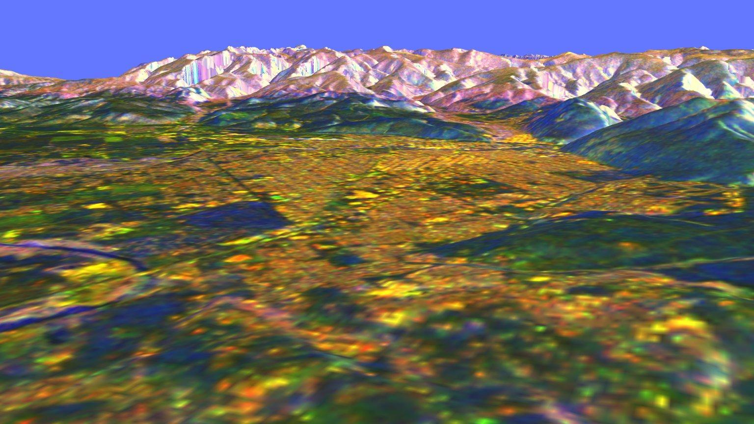 Missoula, Montana 3-D perspective view L & C bands