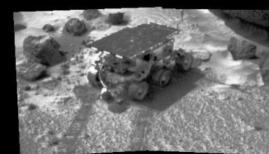 MRPS #81088 (Sol 5) Sojourner's APXS at work