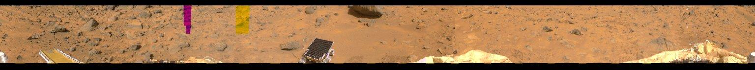 MRPS #81126 (Sol 5) Portion of 360-degree color panorama