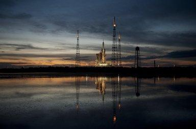 Ares I-X at the Launch Pad