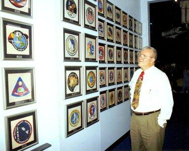 Apollo 13 Astronaut Fred Haise and Apollo 13 Mission Patch