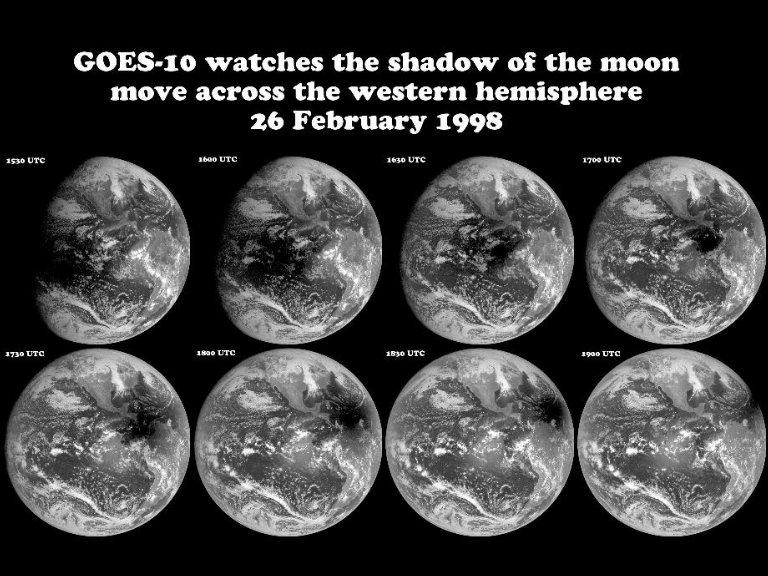 GOES-10 Captures Solar Eclipse Sequence