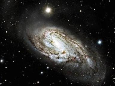 Unusual Spiral Galaxy M66