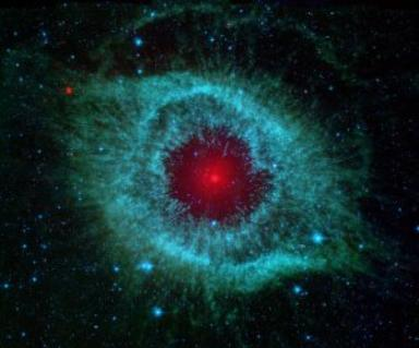 Dust and the Helix Nebula