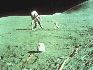 Astronaut Kicks Lunar Field Goal