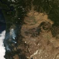 Fires in Oregon and Northern California
