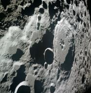 Apollo 11 Mission image - View of Moon limb, Crater 308