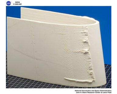 ice castings from wing sections ; wing section serial number - NG0655