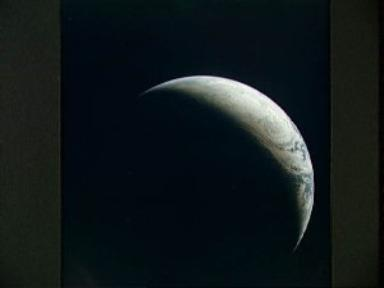 Brazil, Atlantic Ocean, Africa and Antarctica seen from Apollo 4