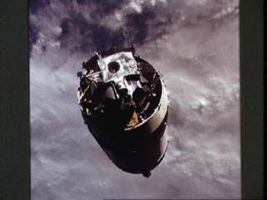 Lunar Module 3 attached to Saturn V third stage