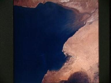 Mexico, Arizona, Gulf of California as seen from Apollo 6 unmanned spacecraft