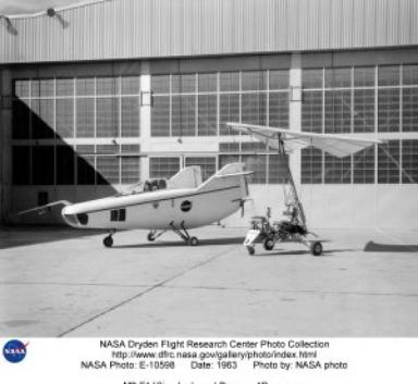 M2-F1 lifting body and Paresev 1B on ramp