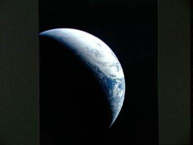 Brazil, Atlantic Ocean, Africa, Sahara and Antarctica seen from Apollo 4