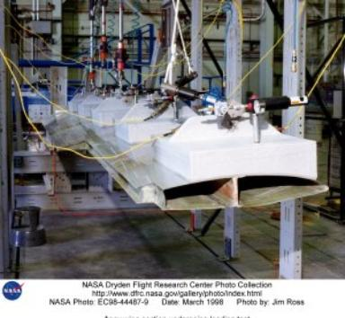 Apex wing section undergoing loading test
