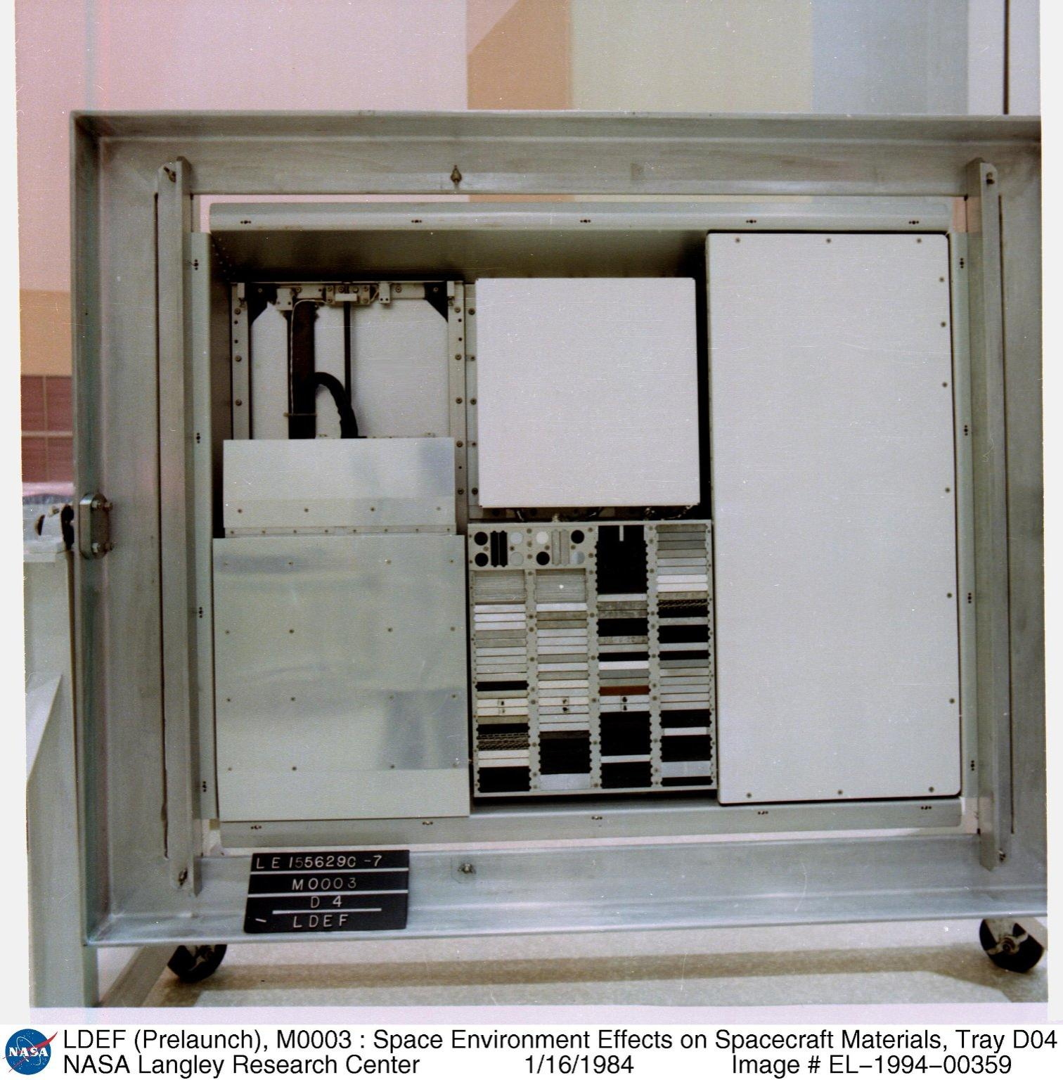 LDEF (Prelaunch), M0003 : Space Environment Effects on Spacecraft Materials, Tray D04