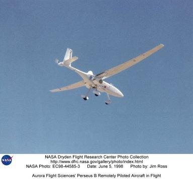 Aurora Flight Sciences' Perseus B Remotely Piloted Aircraft in Flight