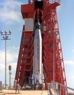 Mercury-Atlas Rocket on the Launch Pad