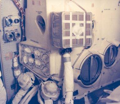 "Interior View of the Apollo 13 Lunar Module and the ""Mailbox"