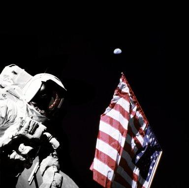 Schmitt with Flag and Earth Above