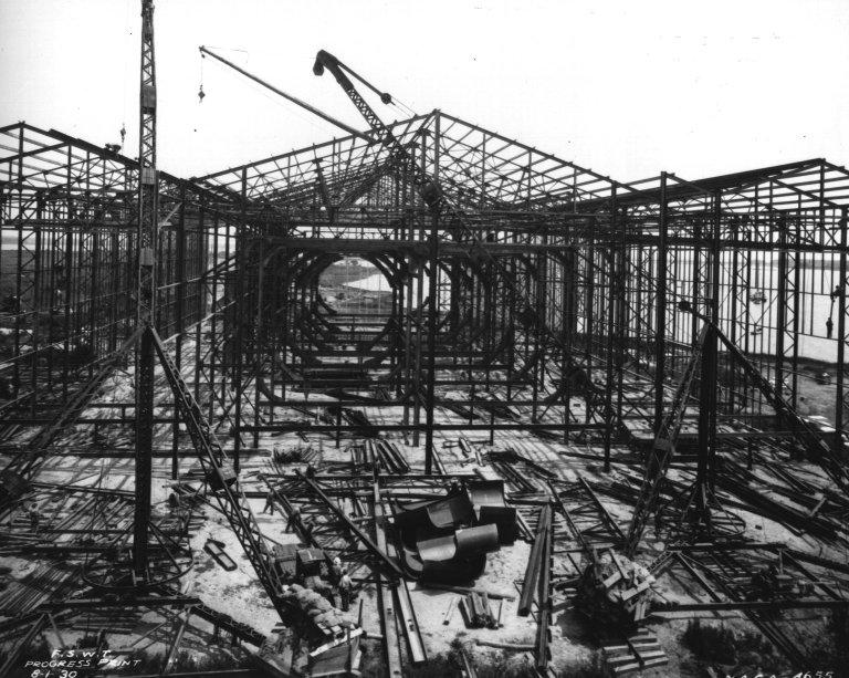 Construction of the 30 x 60 Foot Wind Tunnel at Langley