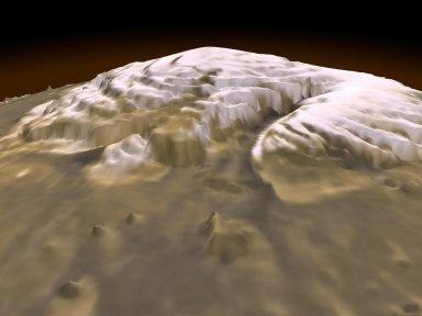 3-D View of Mars