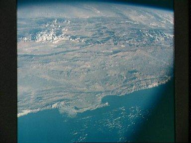 South America as seen from the Apollo 7 spacecraft