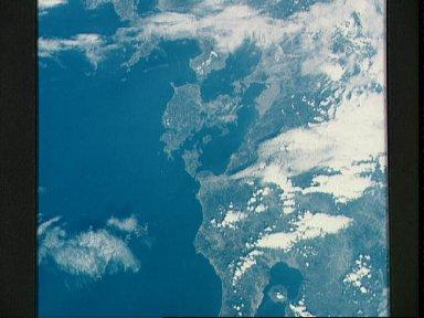 Souther portion of Island of Kyushu, Japan, as seen from the Apollo 7
