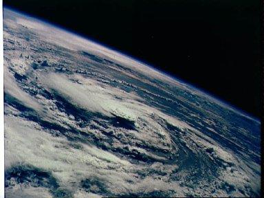 Hurricane Gladys, Gulf of Mexico as seen from the Apollo 7 spacecraft