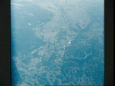 Mississippi River Valley as seen from the Apollo 7 spacecraft