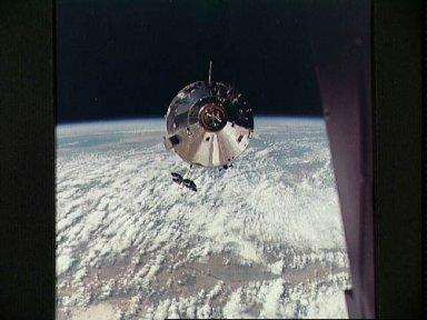 Apollo 9 Command/Service Modules photographed from Lunar Module