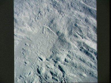 Vertical view of inner wall of King Crater on lunar farside
