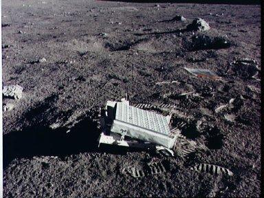 View of the Laser Ranging Retro Reflector deployed by Apollo 14 astronauts