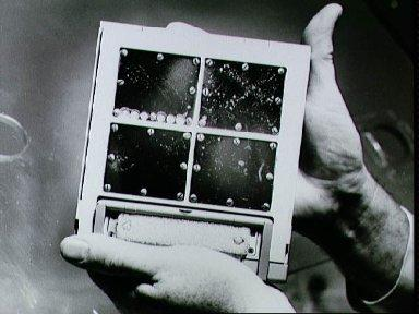 Package of test panels from Gemini 8 Agena retrieved by Gemini 10