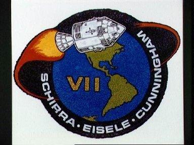 Official emblem of Apollo 7, first manned Apollo space mission