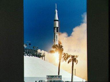 Launch of the Apollo 7 spacecraft