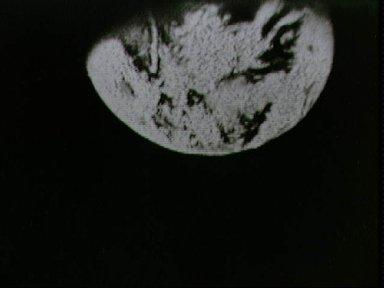 View of the earth transmitted during live television transmission Apollo 8