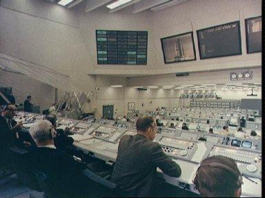 Firing Room 2 in Launch Control Center at KSC during Apollo 9 countdown test
